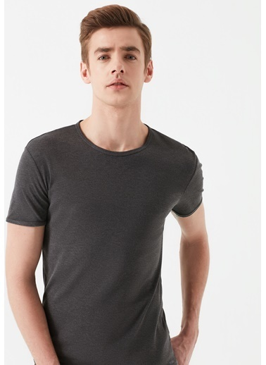 Mavi Basic Tişört Gri